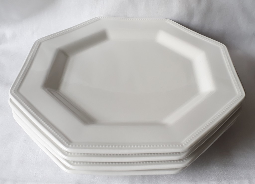 Nivag Crockery: Johnson Brothers - Heritage White: Set of 4 Dinner ...