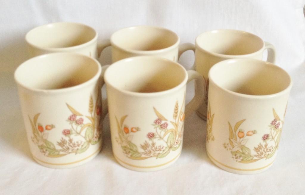Nivag Crockery Harvest Set Of 6 Coffee Mugs
