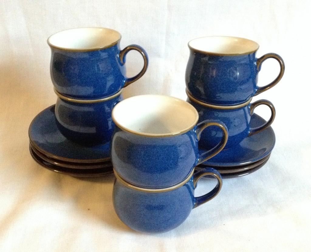 Nivag Crockery Denby Imperial Blue Set Of 6 Espresso