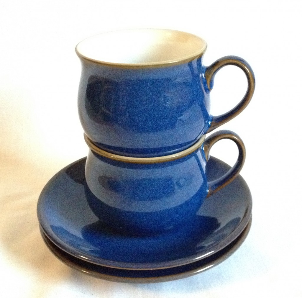 Nivag Crockery Denby Imperial Blue Set Of 2 Espresso