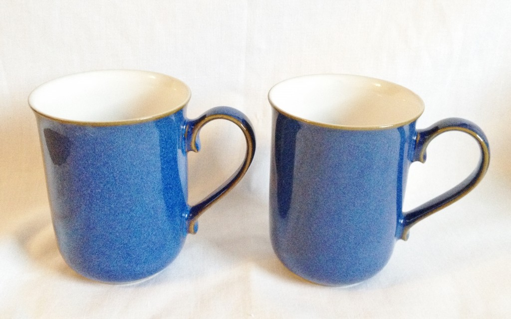 Nivag Crockery Denby Imperial Blue Set Of 2 Straight