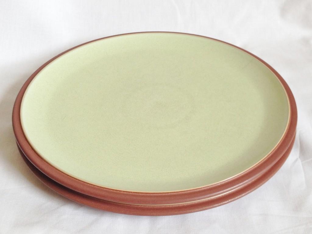 Nivag Crockery: Denby - Juice: Set of 2 Apple Green Dinner Plates
