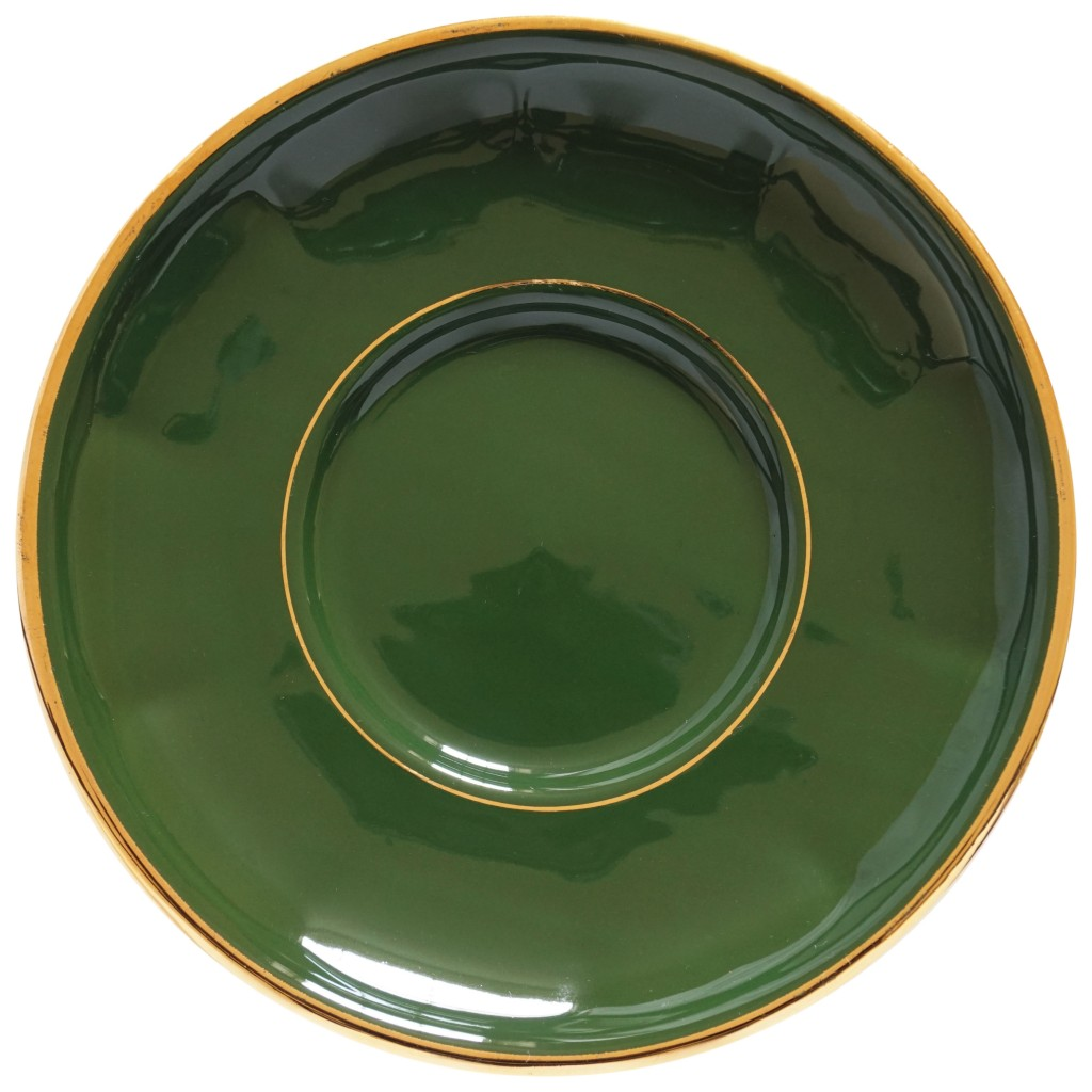 Nivag Crockery: Apilco - Green and Gold Bistro: Set of 4 Coffee Cup ...