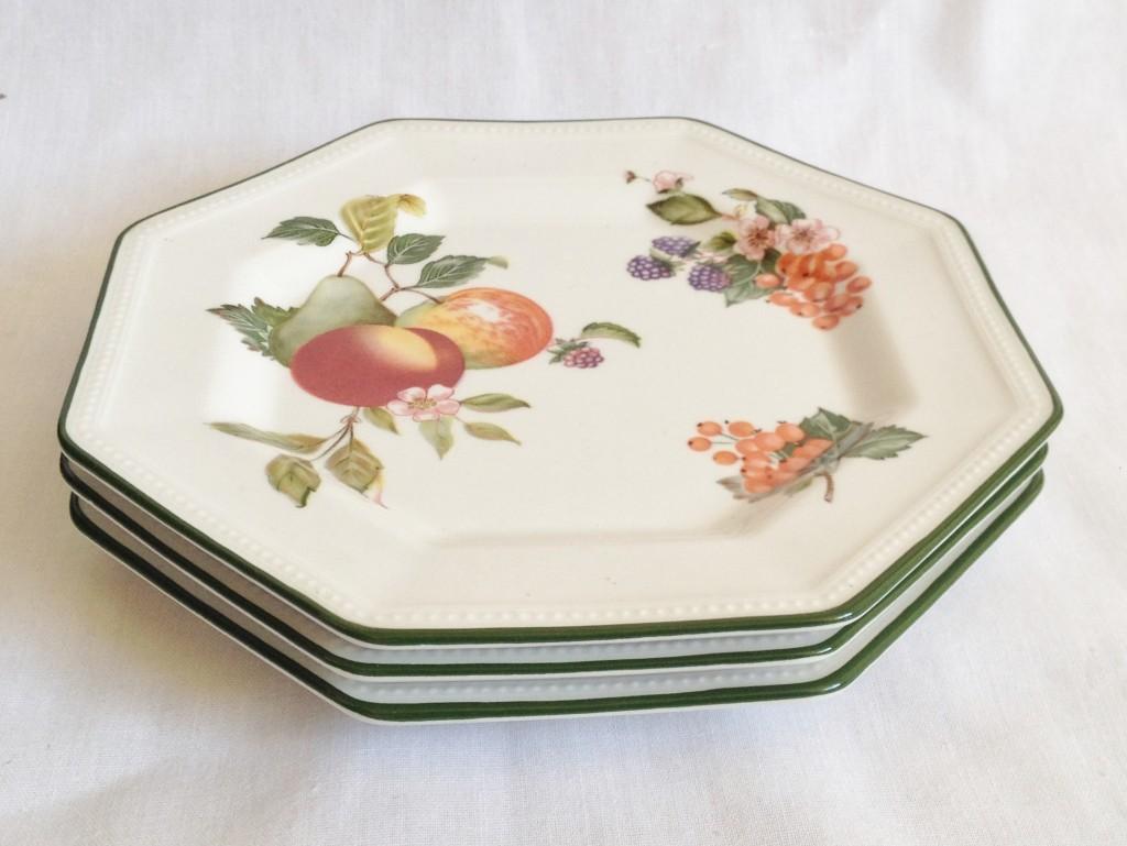 Set of 3 Tea Plates. Johnson Brothers \u003e Fresh Fruit & Nivag Crockery: Johnson Brothers - Fresh Fruit: Set of 3 Tea Plates